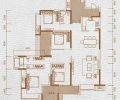 华润中央公园 四居室 142平米