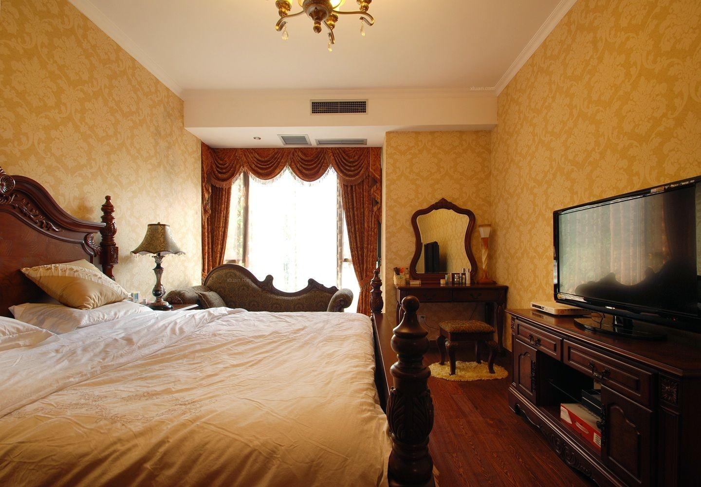四居室混搭风格卧室卧室背景墙