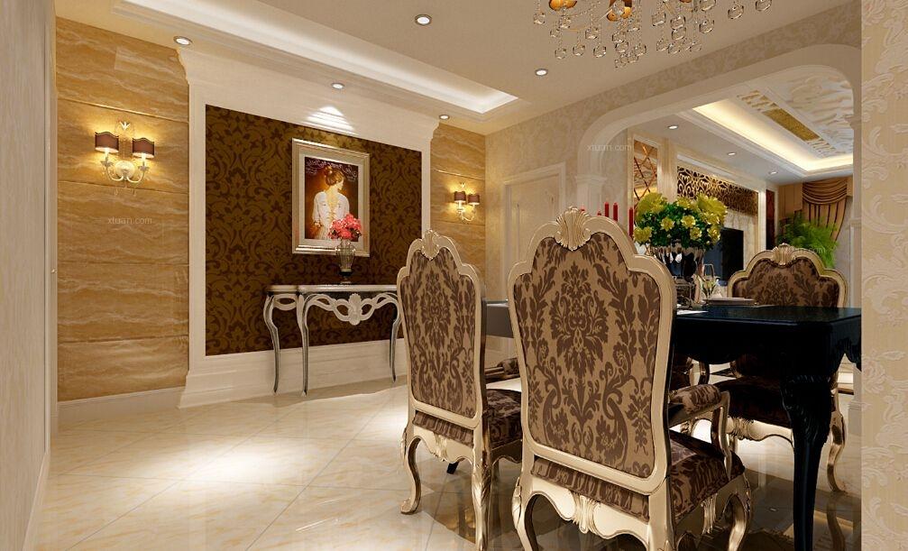四居室欧式风格餐厅软装
