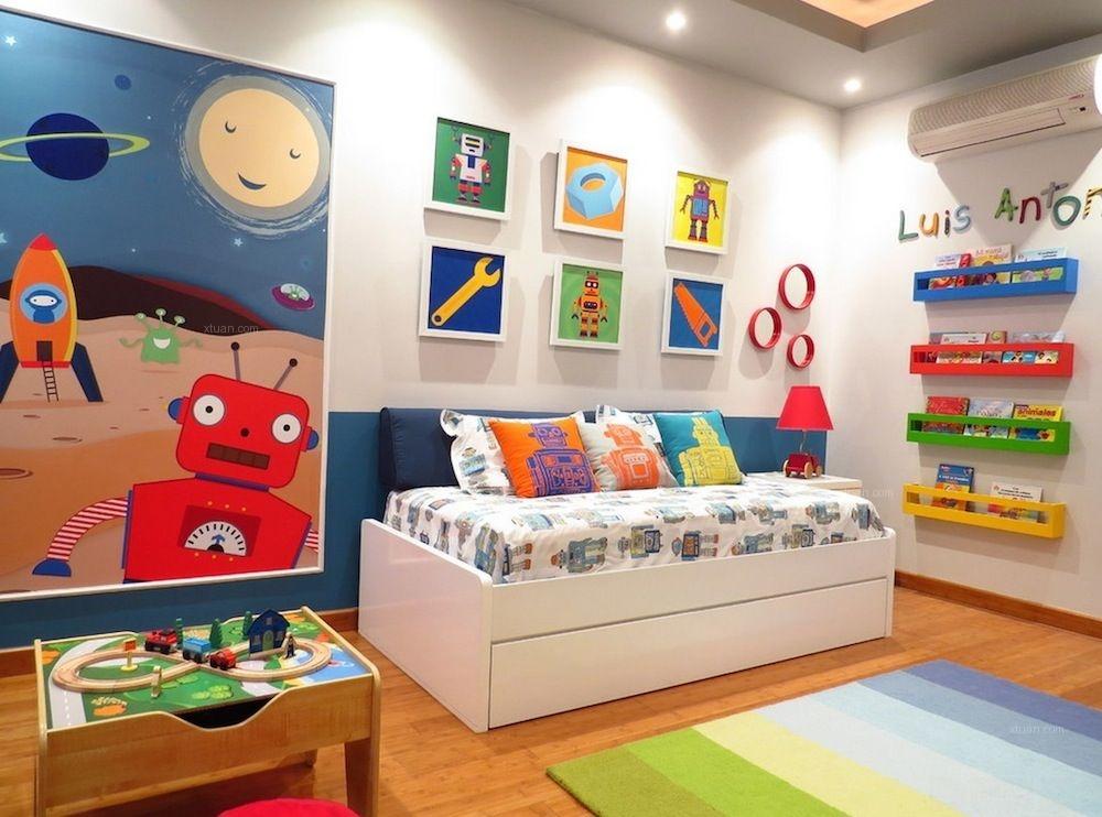 款以娱乐为主题的儿童房效果图
