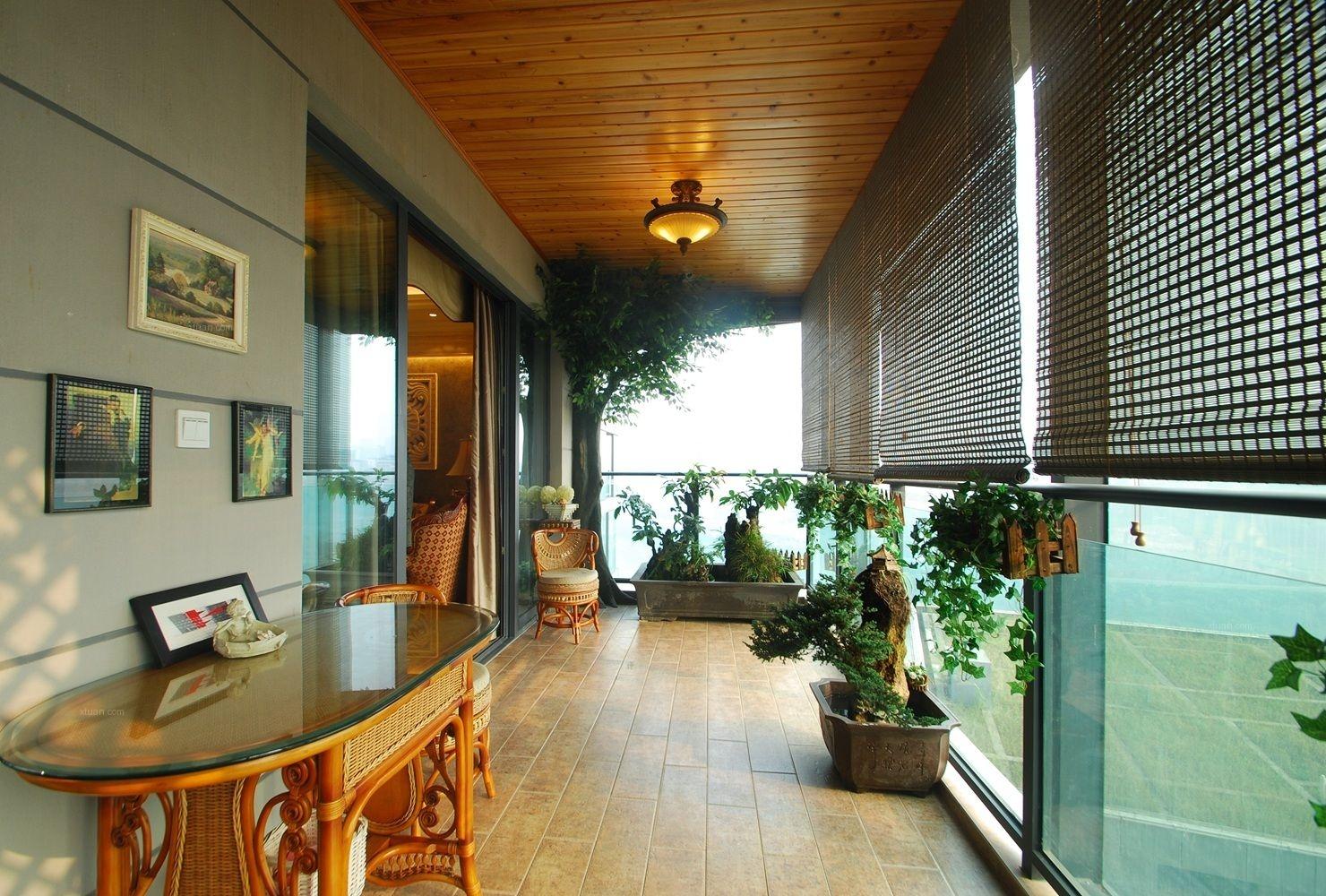 四居室混搭风格阳台地台