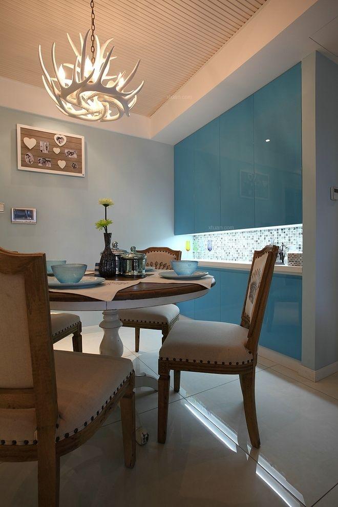 三居室地中海风格餐厅开放式厨房