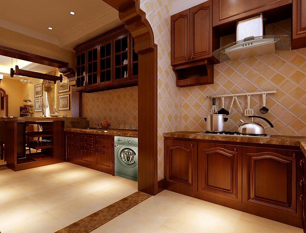 别墅美式风格厨房