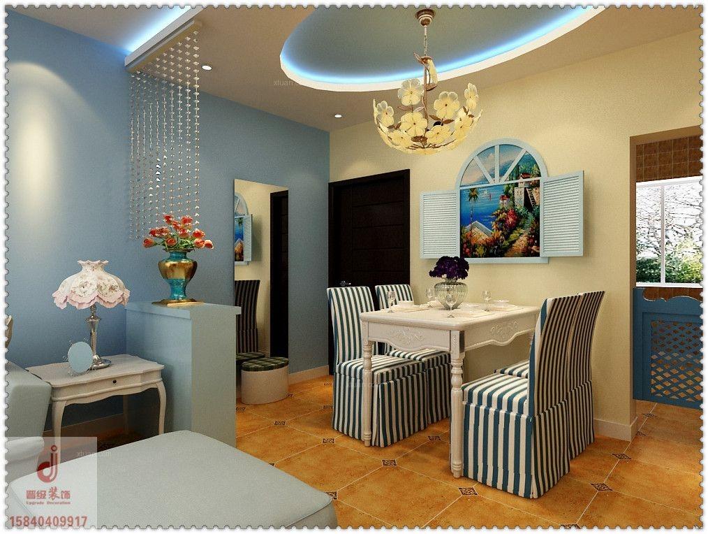 清河湾89平两居室混搭风格图装修效果图图片