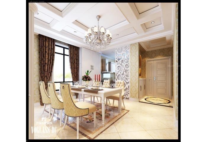 独栋别墅欧式风格卧室_保利海棠湾欧式古典装修效果图