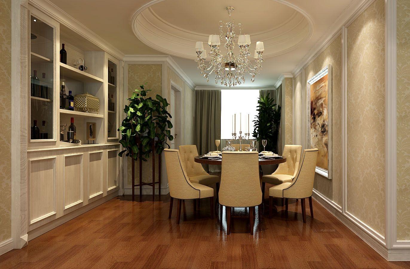 三室一厅美式风格客厅沙发背景墙图片