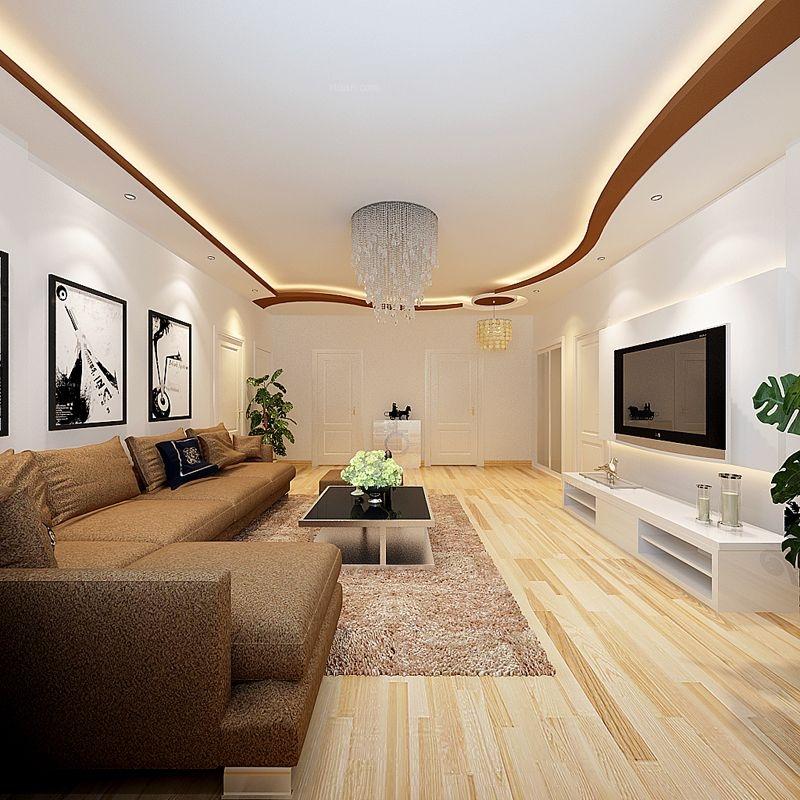 一居室现代简约客厅电视背景墙