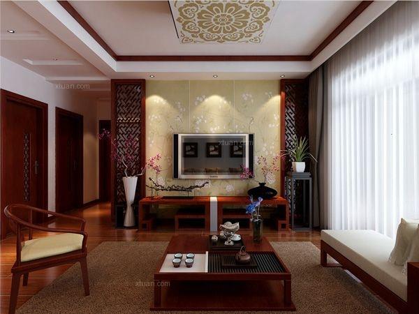 广福城130平米现代中式风格装修