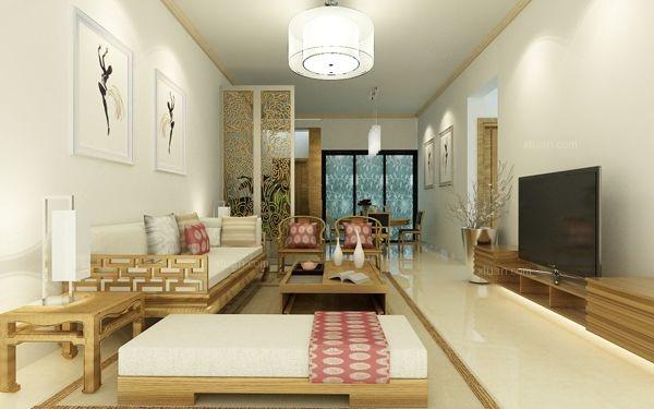 耀兴枫丹白露80平米现代中式风格装修