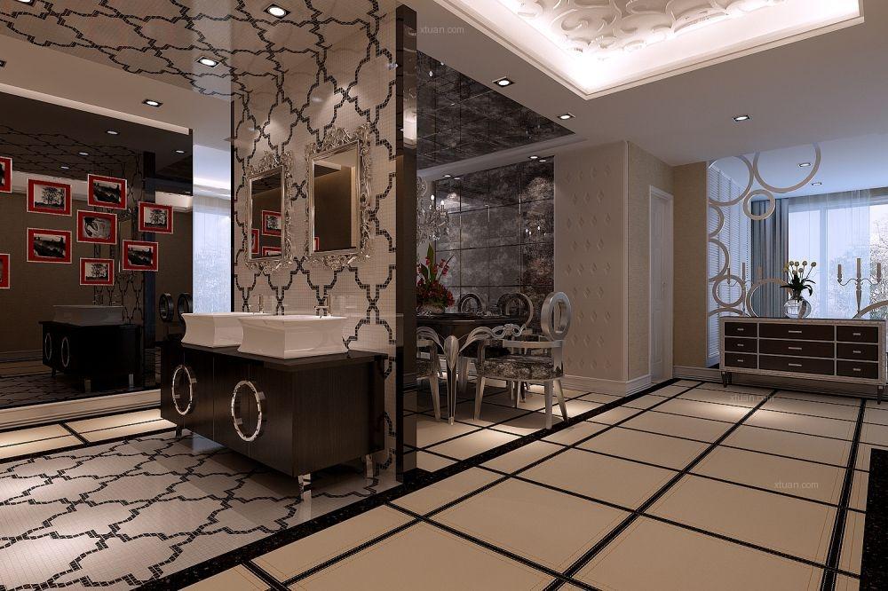 三居室混搭风格餐厅