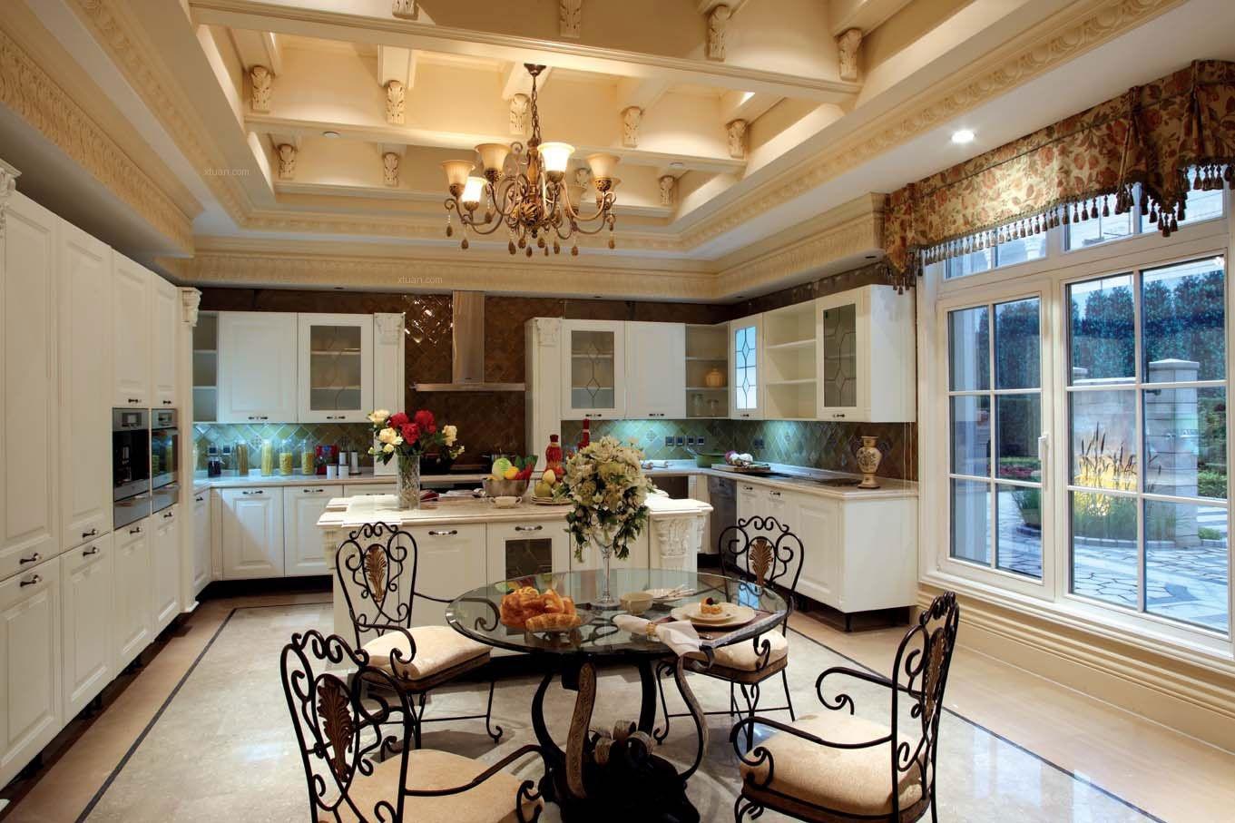 别墅美式风格厨房软装