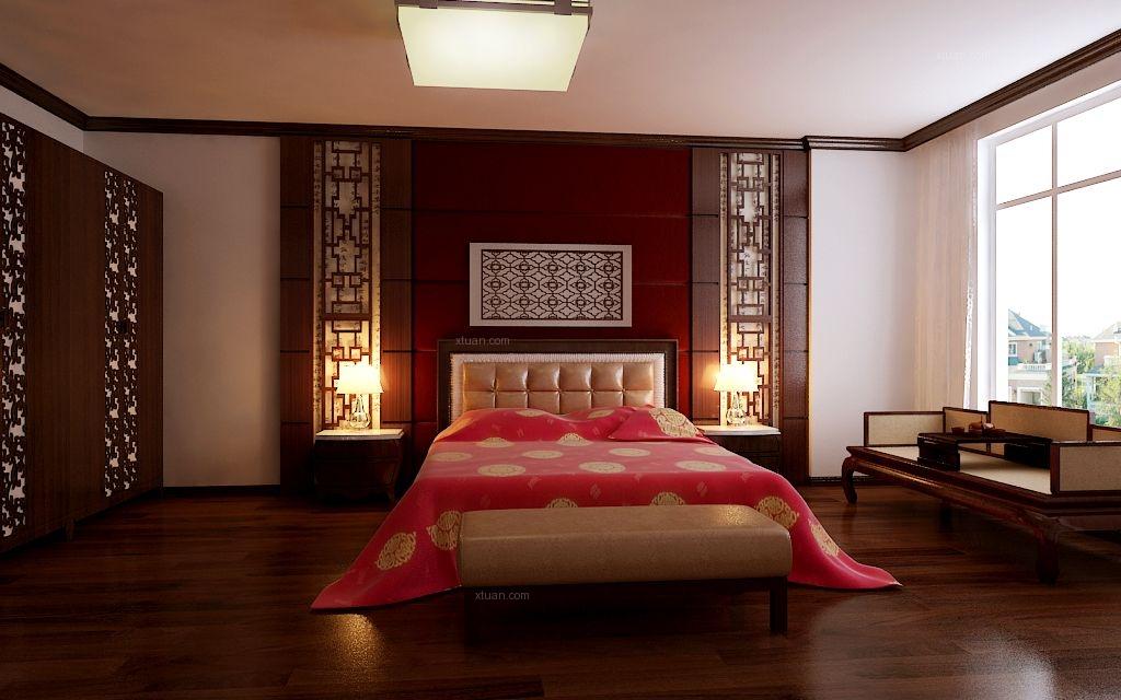 两室一厅中式风格卧室