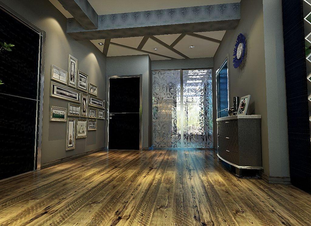 两居室现代风格玄关_新港式装修效果图-x团装修网图片