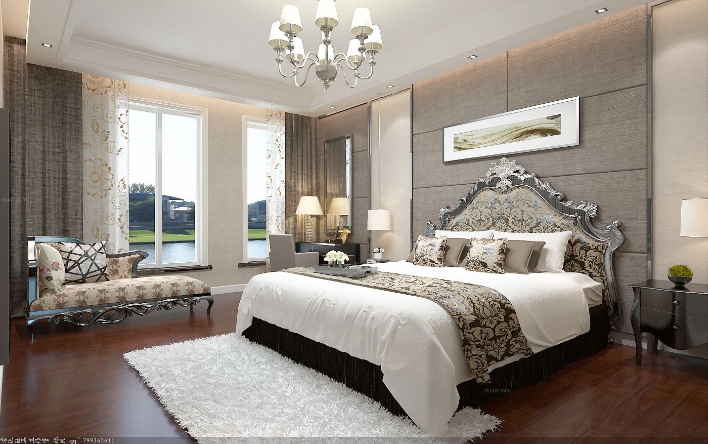 四居室中式风格主卧室