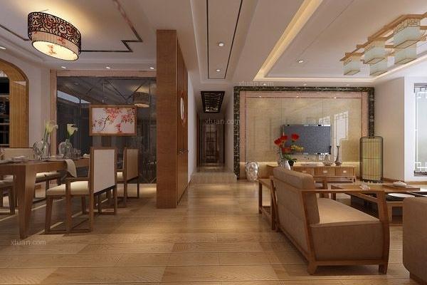 盛唐城133平米新中式风格装修