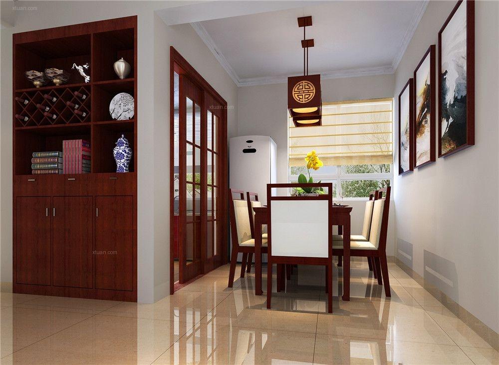 两室一厅中式风格餐厅客厅隔断