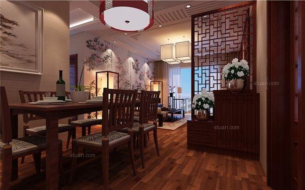 碧鸡名城120平米中式风格装修