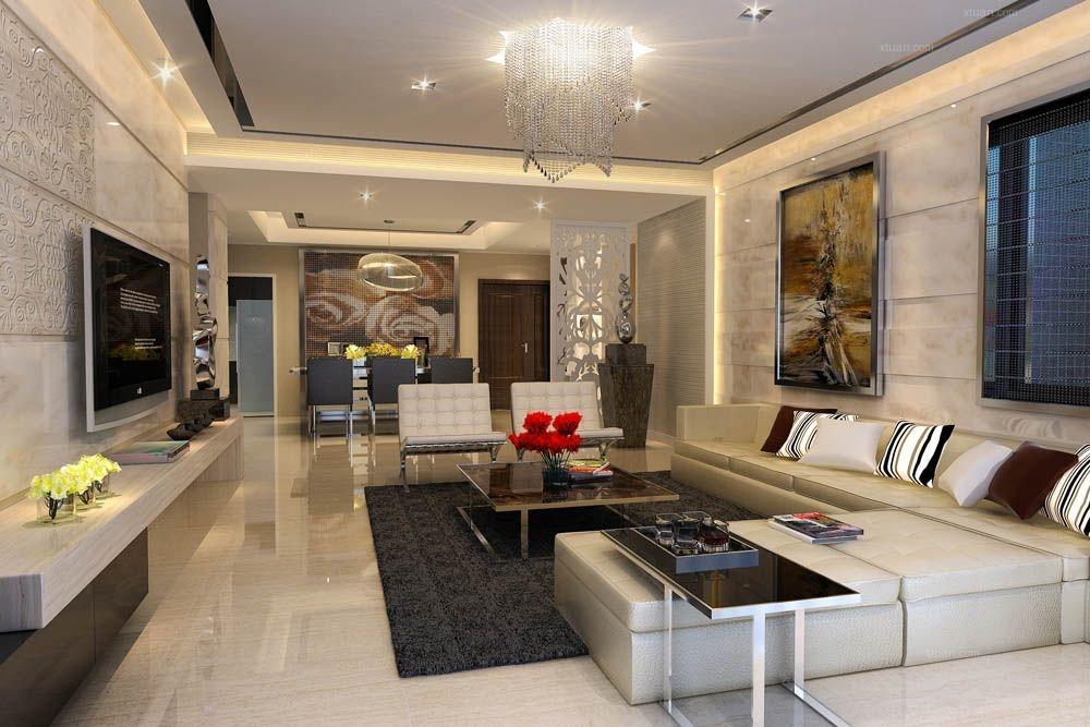 四居室现代简约客厅