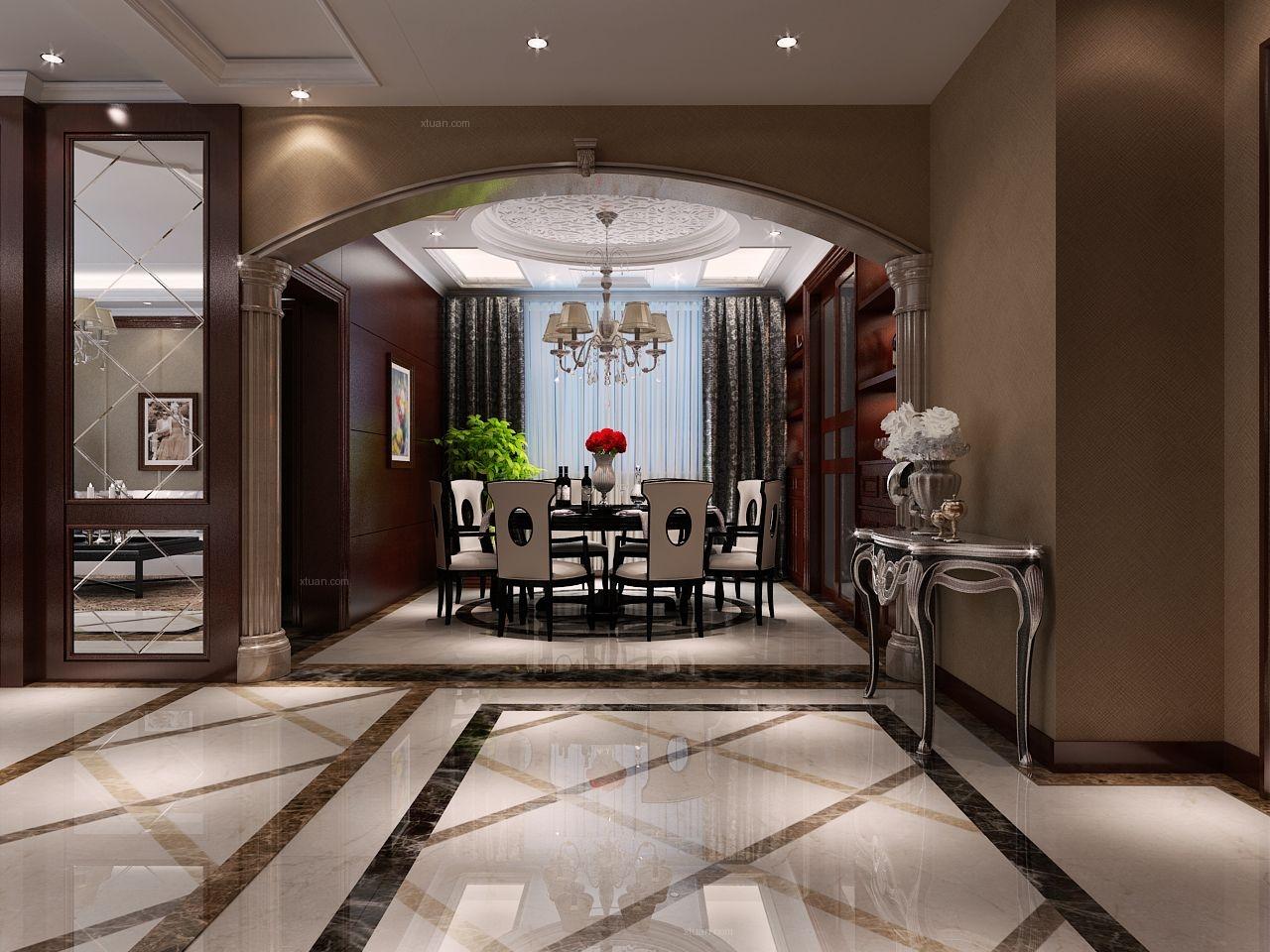 四居室欧式风格餐厅