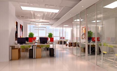 望京sohot3办公室设计施工装修效果图
