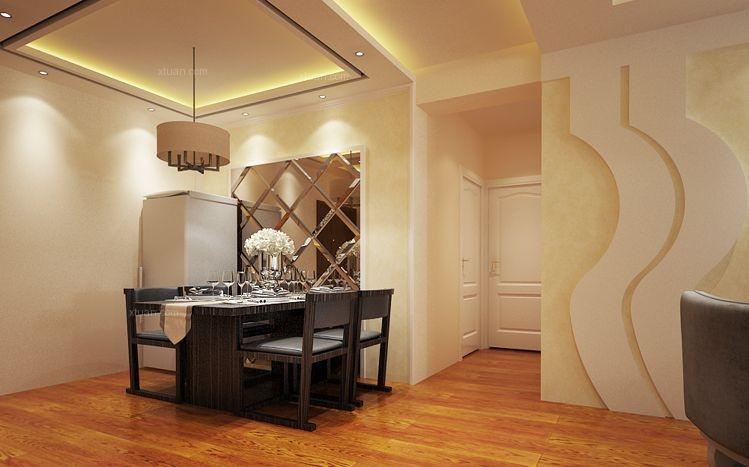 两居室现代简约餐厅客厅隔断