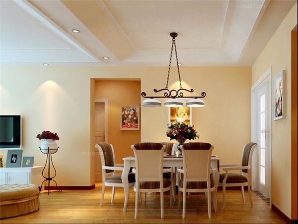 两室两厅田园风格餐厅