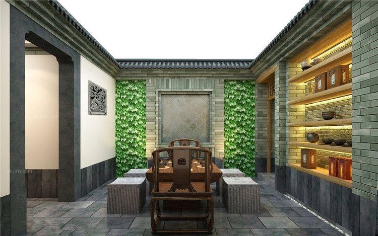 中式私人会所装修设计惬意悠然