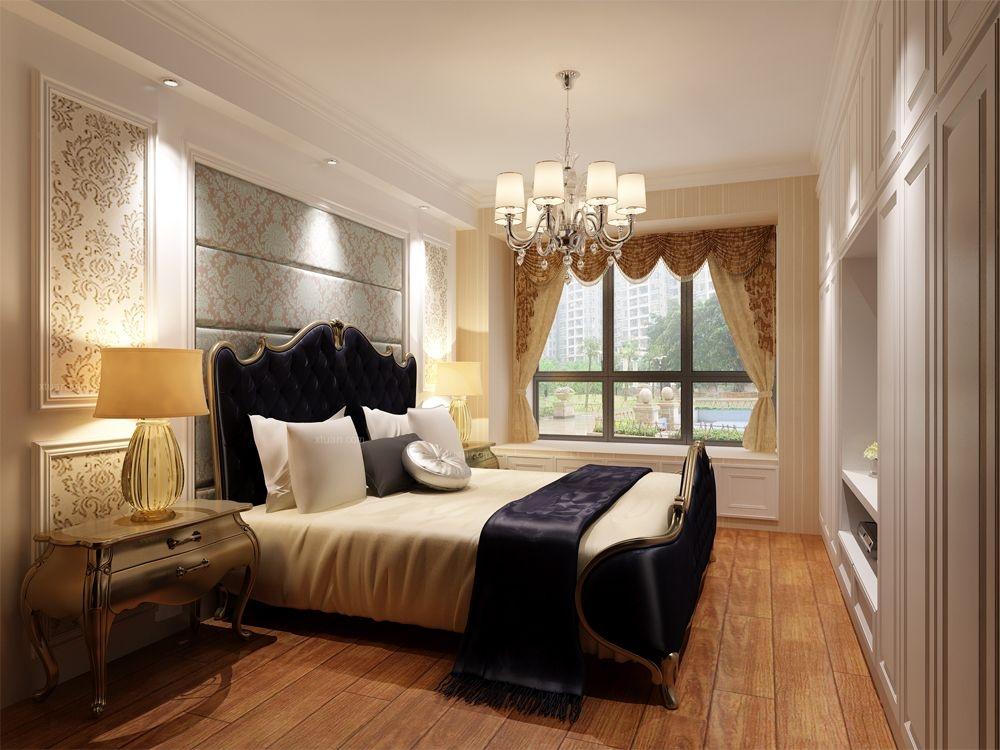 三居室欧式风格卧室卧室背景墙
