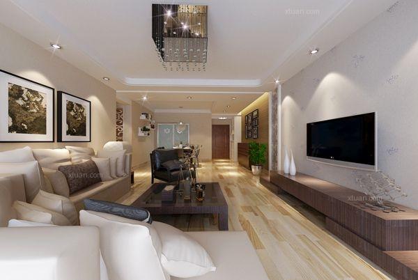 四居室现代简约餐厅_东盟森林136平米现代风格装修图