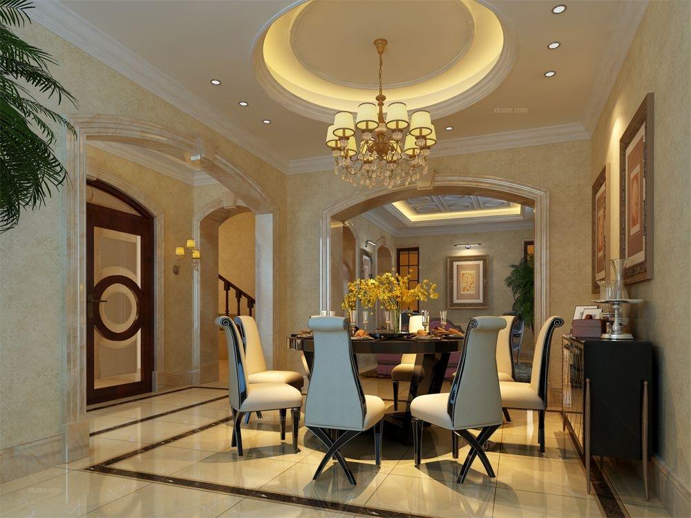 四居室简欧风格餐厅软装