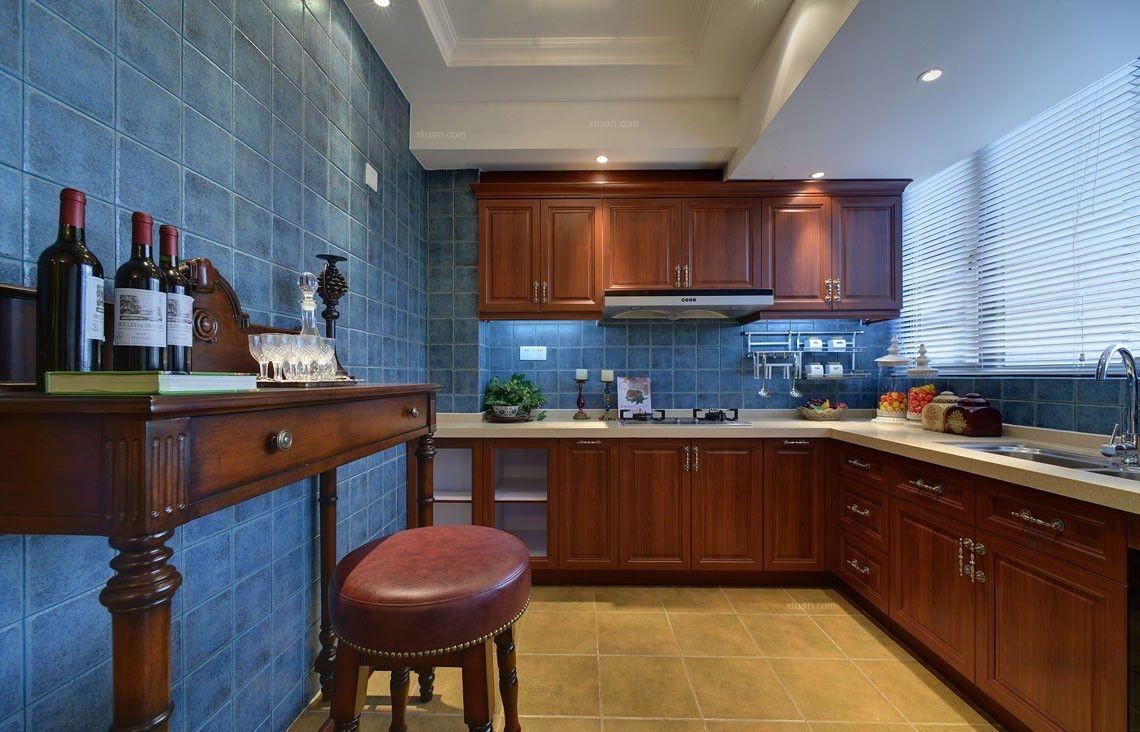 两室两厅美式风格厨房