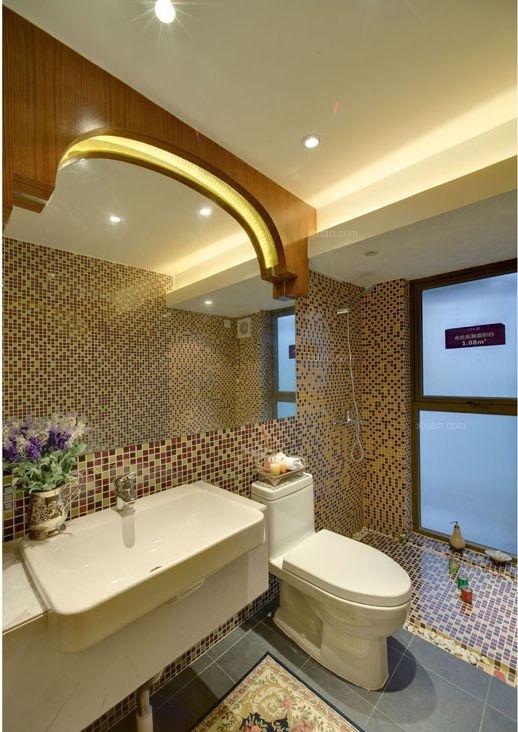 两室两厅美式风格卫生间