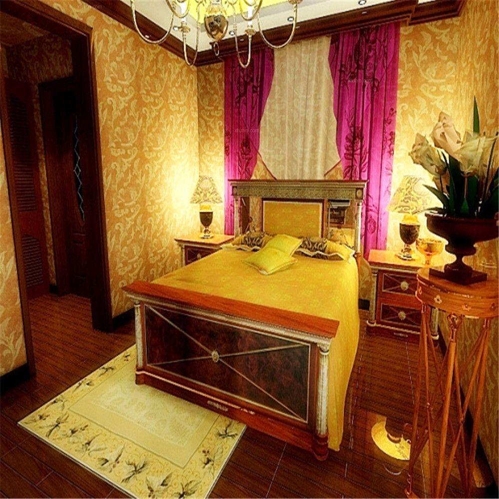 两居室东南亚风格卧室软装
