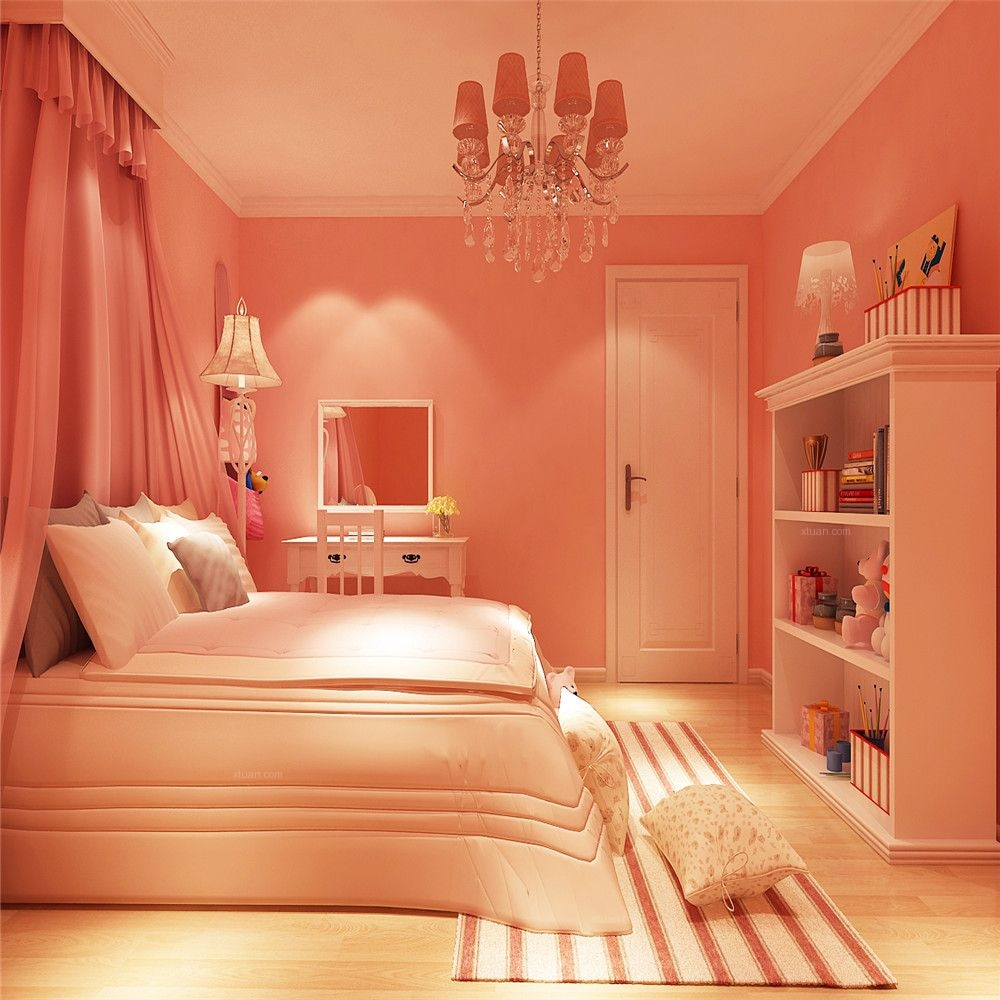 跃层混搭风格小卧室软装