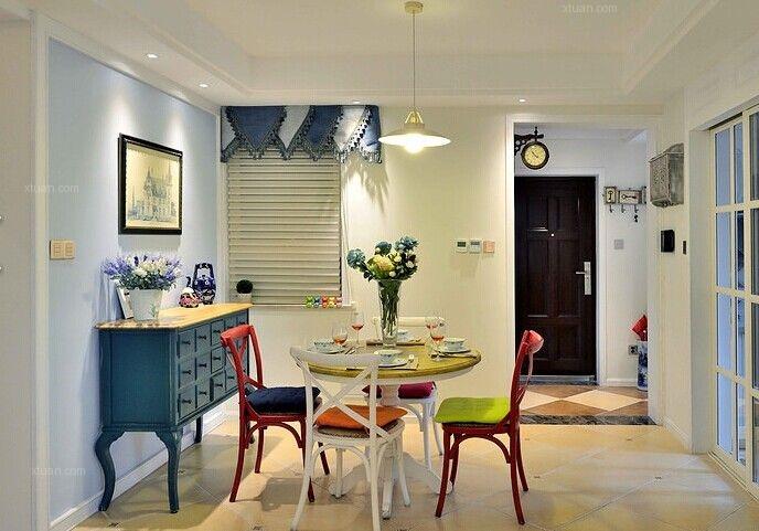两居室现代简约餐厅照片墙