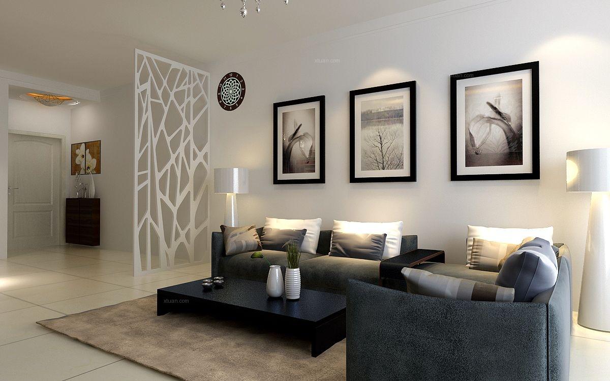 新加坡城二居室现代风格效果图
