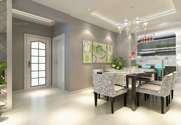 三室两厅现代风格餐厅