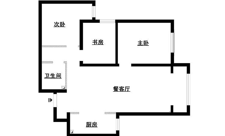 两室一厅现代风格客厅软装