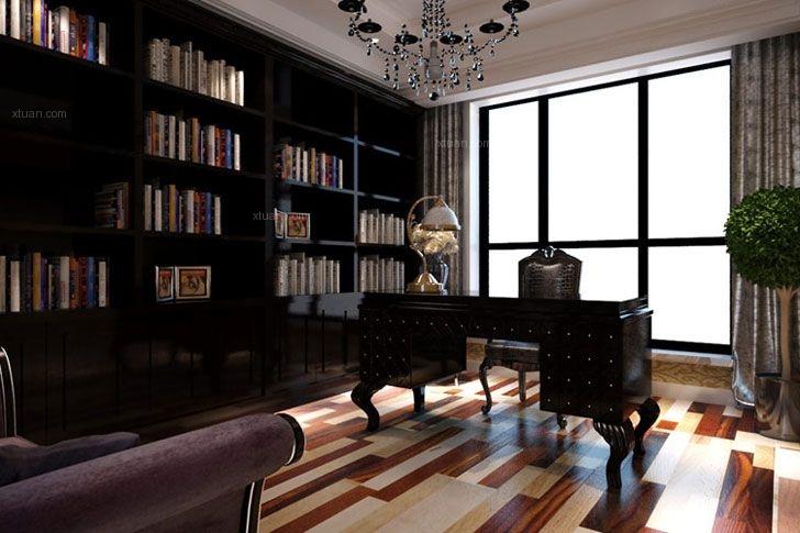 复式楼现代风格书房