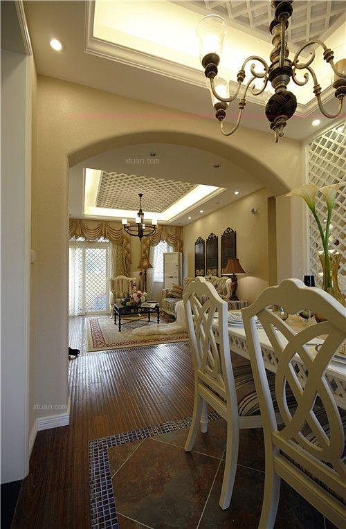 三居室地中海风格餐厅