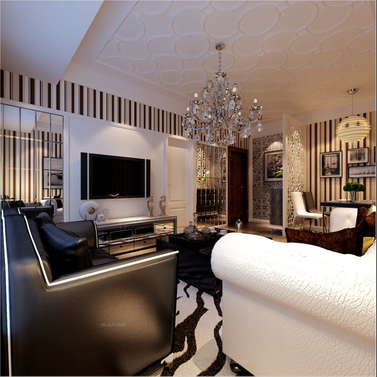 两室两厅现代风格客厅