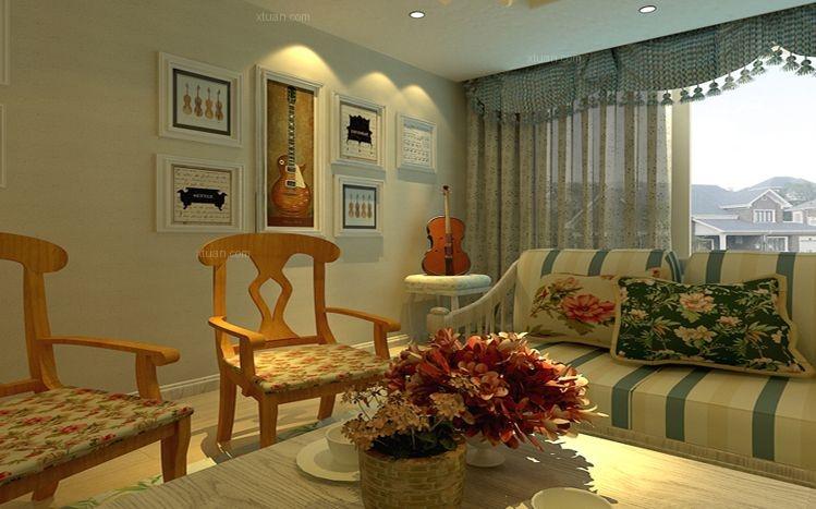 三室两厅田园风格客厅