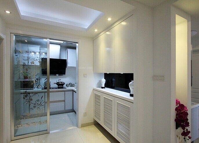 两居室现代简约厨房隐形门_莲花尚城装修效果图