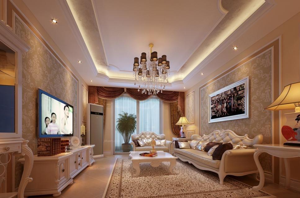 一室一厅欧式风格客厅软装