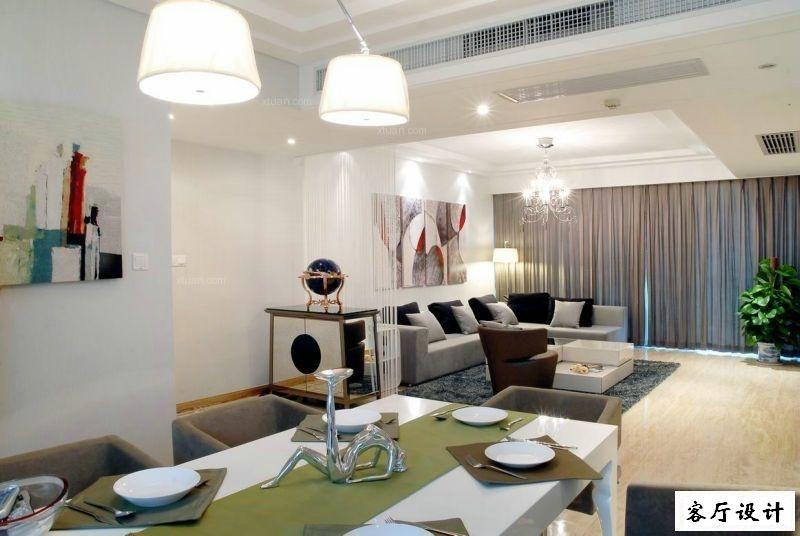 三居室现代简约风格实用也时尚装修实景展示