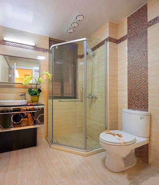 两居室混搭风格卫生间