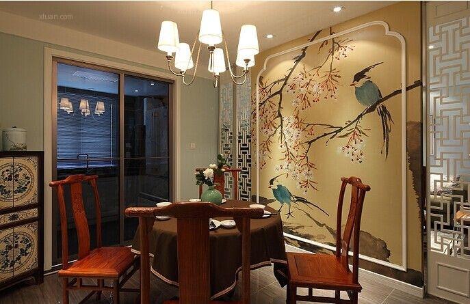 三居室中式风格餐厅隐形门