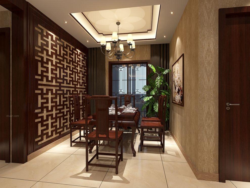 三居室中式风格餐厅隔断
