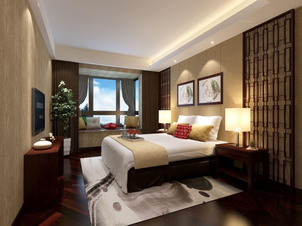 麟凤尊汇:三居室134平米中式风格