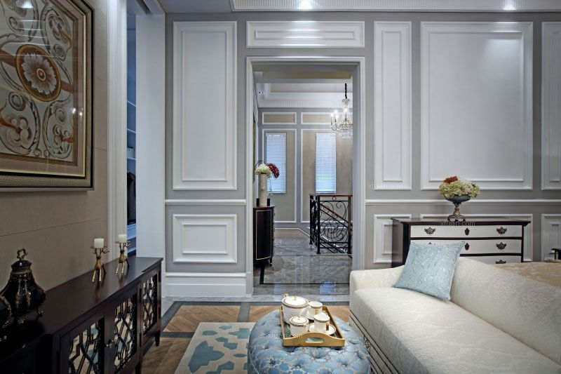 尊贵欧式卓尔不群 中洲湾上花园别墅室内设计